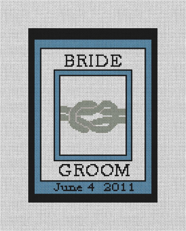 The Knot Ring Bearer Needlepoint Pillow Canvas