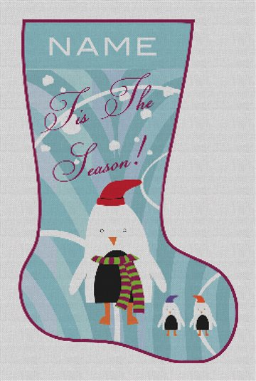 Tis the Season Fun Needlepoint Stocking Canvas