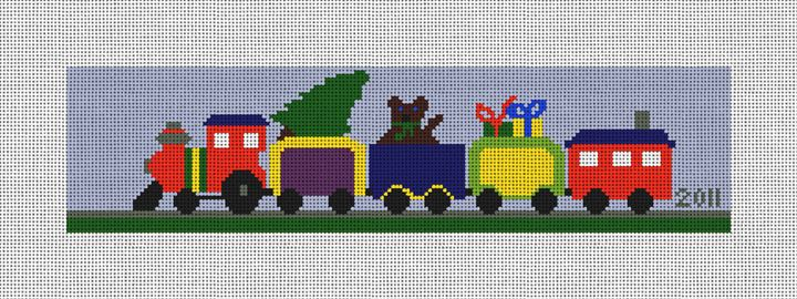 Train - Personalized Needlepoint Ornament Canvas