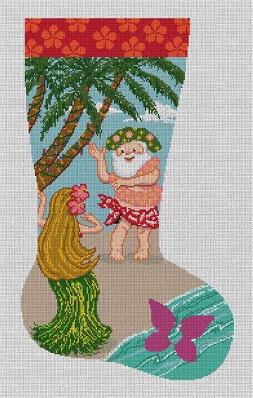 Tropical Holiday Needlepoint Stocking Canvas