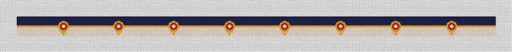 Tulsa Oklahoma Flag Needlepoint Belt Canvas