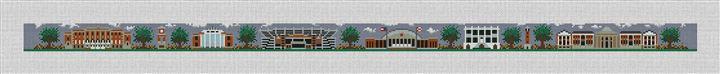 Tuscaloosa Alabama Needlepoint Belt Canvas