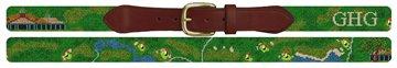 Tuxedo Club Golf Course Needlepoint Belt