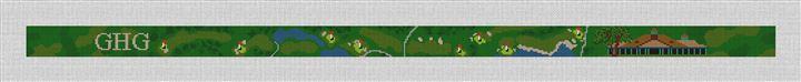 Tuxedo Club Golf Course Needlepoint Belt Canvas