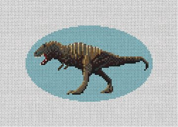 Tyrannosaurus Rex Needlepoint Ornament Canvas
