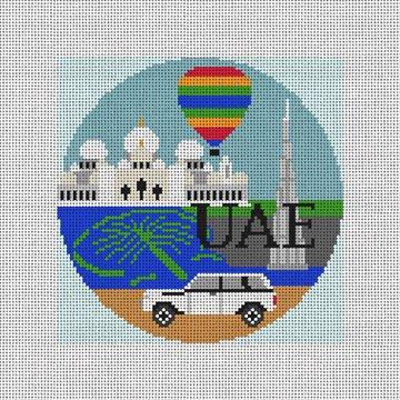 UAE Needlepoint Ornament Canvas