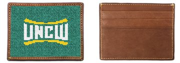 UNC Wilmington Needlepoint Card Wallet