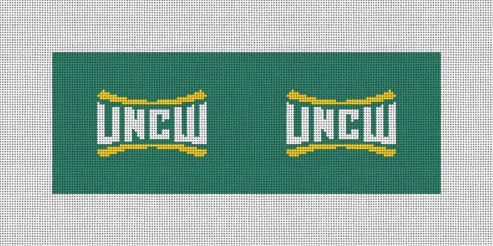 UNC Wilmington Needlepoint Wallet Canvas