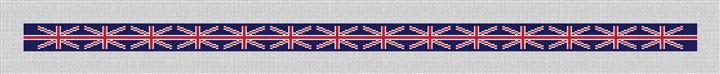 Union Jack Flag Needlepoint Belt Canvas