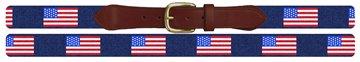 United States Flag Needlepoint Belt