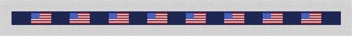 United States Flag Needlepoint Belt Canvas