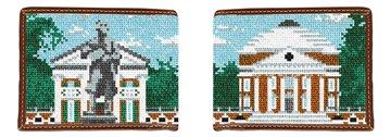 University of Virginia Needlepoint Wallet