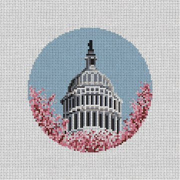 US Capitol Dome Needlepoint Ornament Canvas