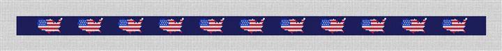 USA Flag Needlepoint Belt Canvas