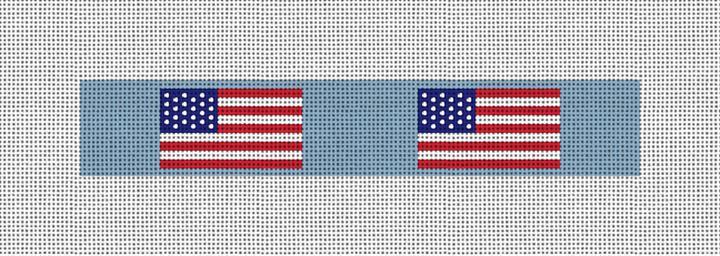 USA Flag Needlepoint Key Fob Canvas