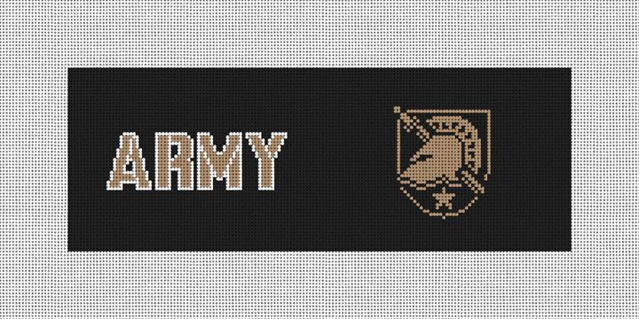 USMA West Point Needlepoint Wallet Canvas