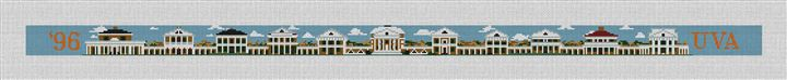 UVA Virginia Academical Village Needlepoint Canvas