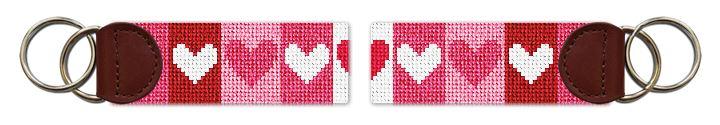 Valentine Needlepoint Key Fob