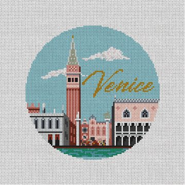 Venice Needlepoint Ornament Canvas