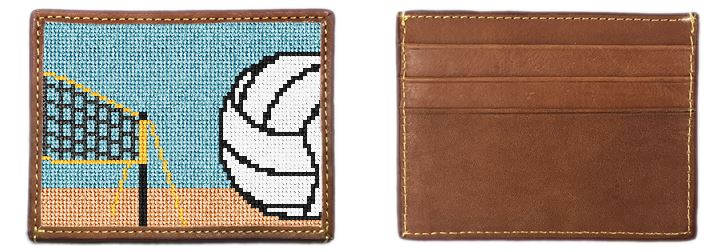 Volleyball Needlepoint Card Wallet