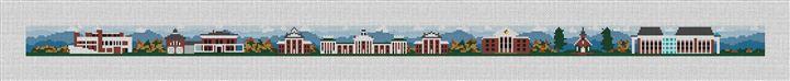 Washington and Lee College Campus Needlepoint