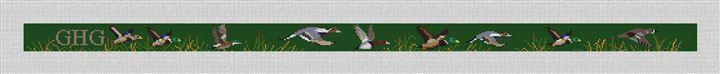 Waterfowl Hunting Needlepoint Belt Canvas