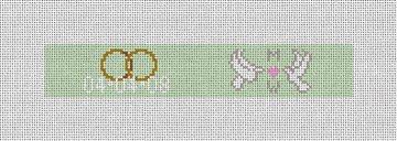 Wedding Doves Needlepoint Key Fob Canvas