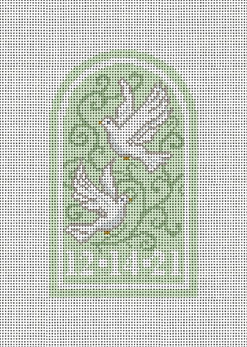 Wedding Doves Needlepoint Ornament Canvas