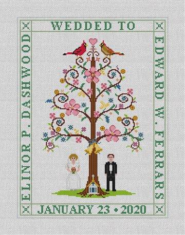 Wedding Sampler Needlepoint Canvas