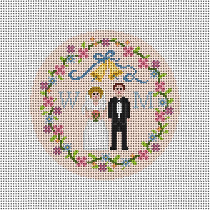 Wedding Sampler Needlepoint Ornament Canvas