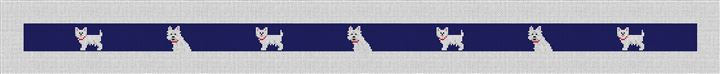 West Highland Terrier Needlepoint Belt Canvas