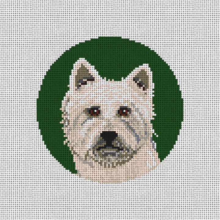 West Highland Terrier Needlepoint Ornament Canvas