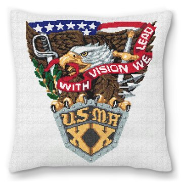 West Point Needlepoint Pillow
