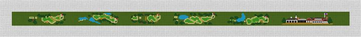 Westhampton Golf Course Needlepoint Belt Canvas