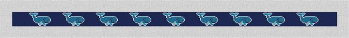 Whale Needlepoint Belt Canvas