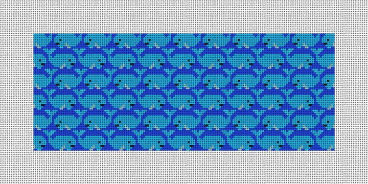 Whale Needlepoint Wallet Canvas