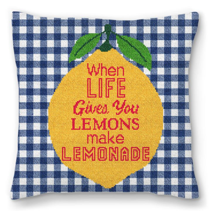 When Life Gives You Lemons Needlepoint Pillow