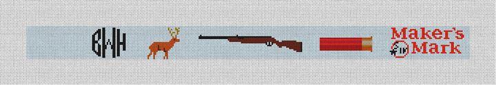 Whiskey and Gunpowder Hunting Needlepoint Belt