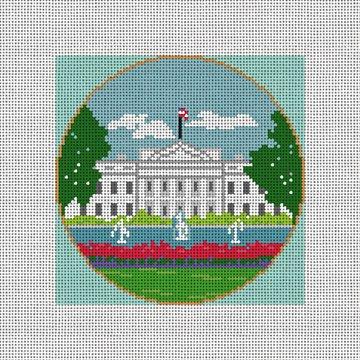 White House Needlepoint Ornament Canvas