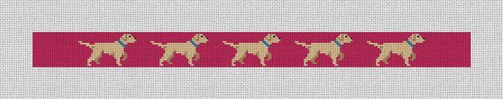 White Lab Needlepoint Dog Collar Canvas