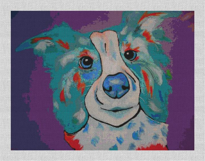 Willie the Dog Needlepoint Canvas