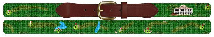 Winchester Kentucky Golf Course Needlepoint Belt