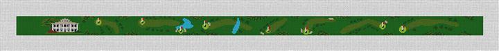 Winchester Kentucky Golf Needlepoint Belt Canvas