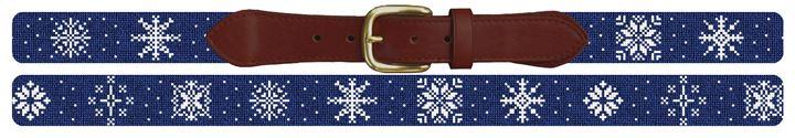 Winter Snowflake Needlepoint Belt