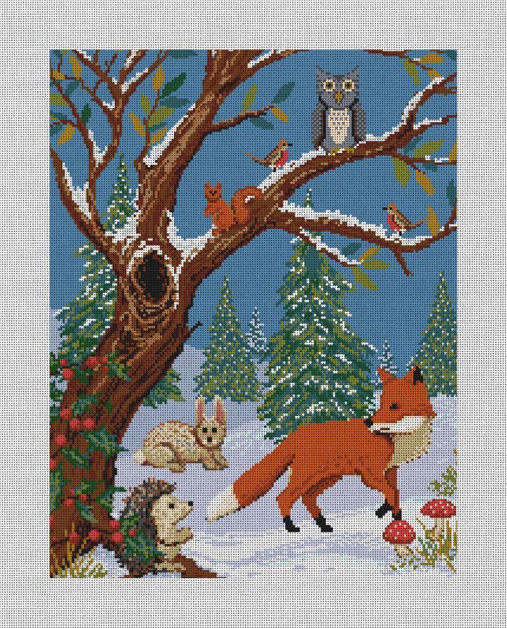 Winter Woodland Needlepoint Canvas