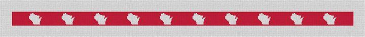 Wisconsin State Needlepoint Belt Canvas