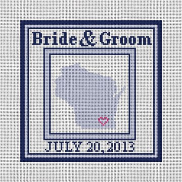 Wisconsin State Ring Bearer Pillow Canvas