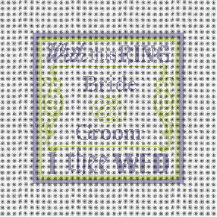 With This Ring Needlepoint Canvas
