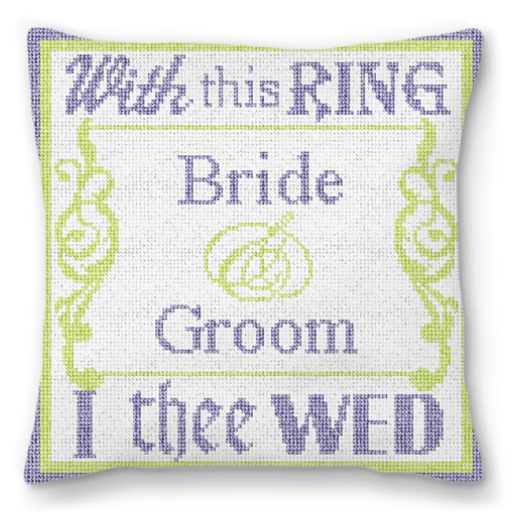 With This Ring Personalized Needlepoint