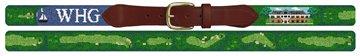 Woods Hole Golf Course Needlepoint Belt